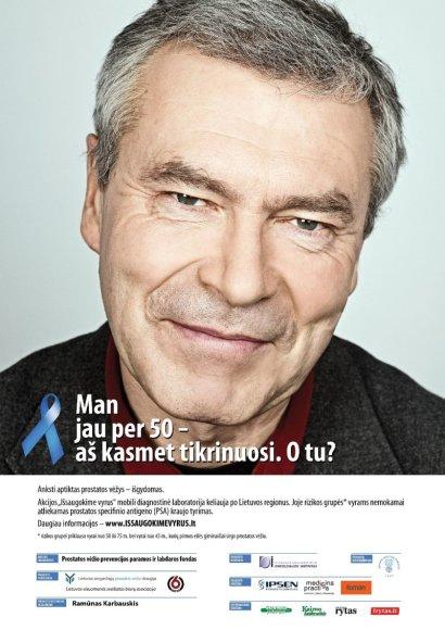 """Socialinio projekto """"Išsaugokime vyrus"""" plakatas (Rimantas Bagdzevičius)"""