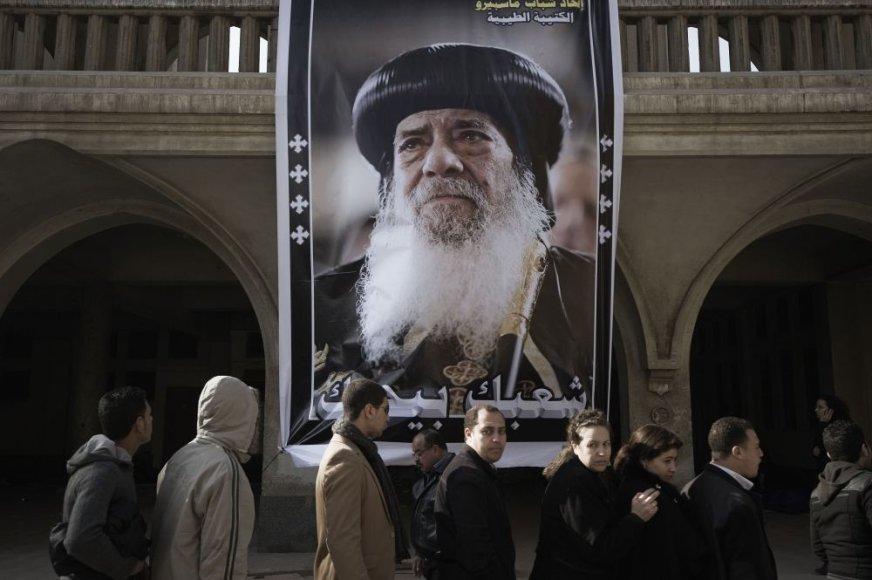 Egiptiečiai plūsta atsisveikti su popiežiumi Shenuda III