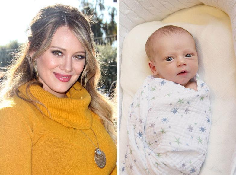 Hilary Duff ir jos sūnelis Luca Cruzas