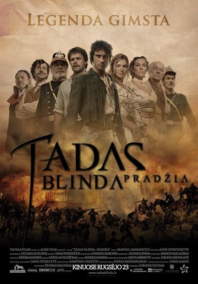 """Pagrindinis filmo """"Tadas Blinda. Pradžia"""" plakatas"""