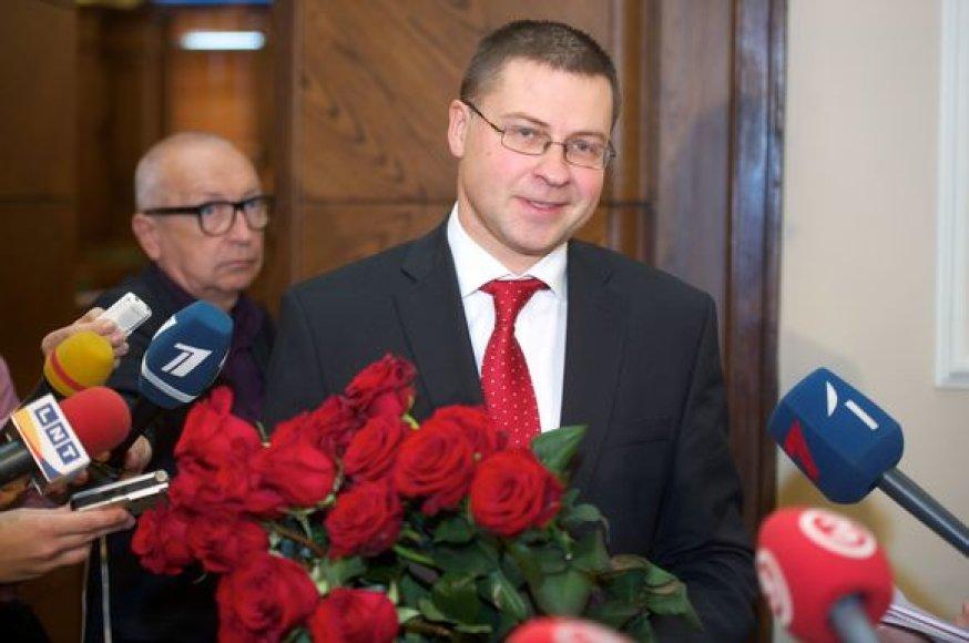 Perrinktas Latvijos Premjeras Valdis Dombrovskis