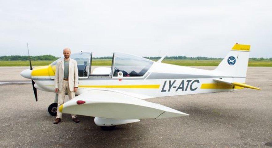 Vos atsigavęs po avarijos, G.Labanauskas jau nori skristi.