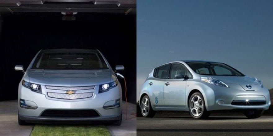 """""""Nissan Leaf"""" ir """"Chevrolet Volt"""". Kuris iš elektromobilių taps populiaresniu?"""