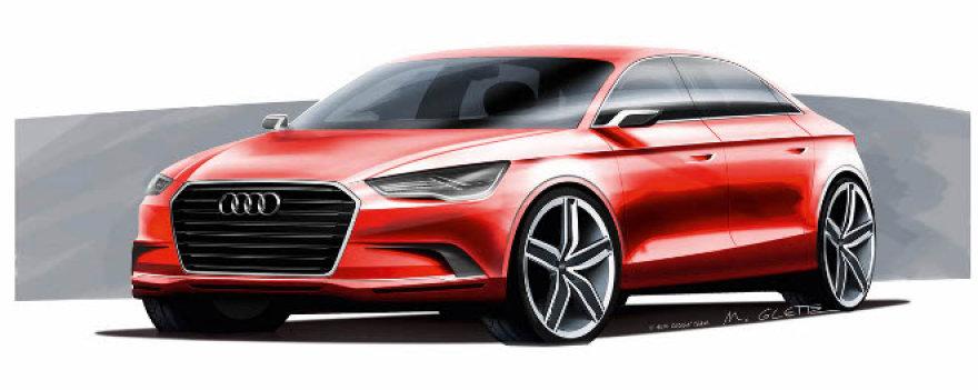 """Koncepcinis """"Audi A3"""" sedanas"""