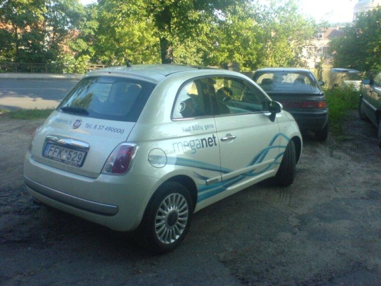 """""""Meganet"""" paženklintas """"Fiat 500"""""""