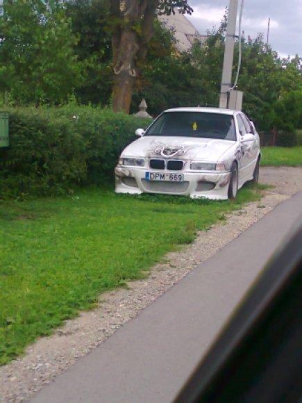 BMW ant žolytės