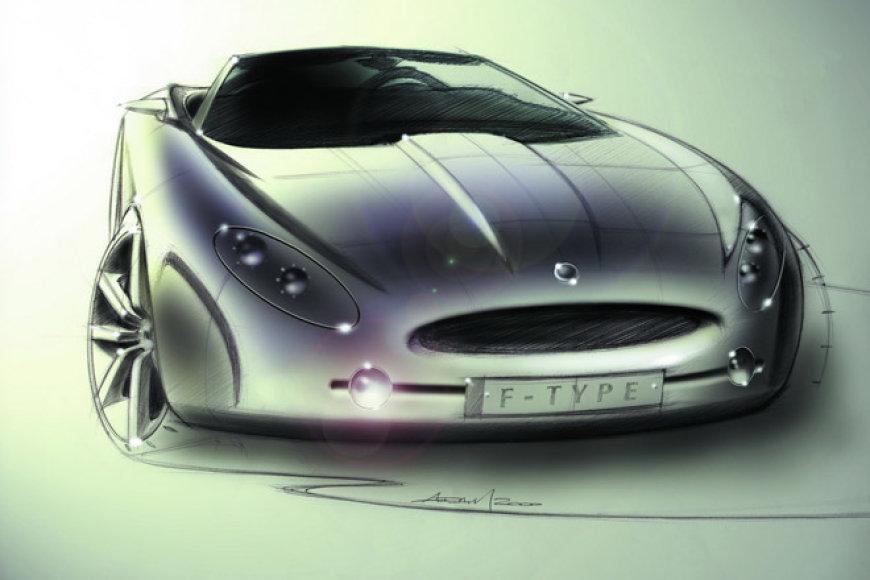 """Jaguar F-type"" eskizas"