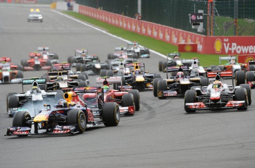 F-1 Belgijos GP startas