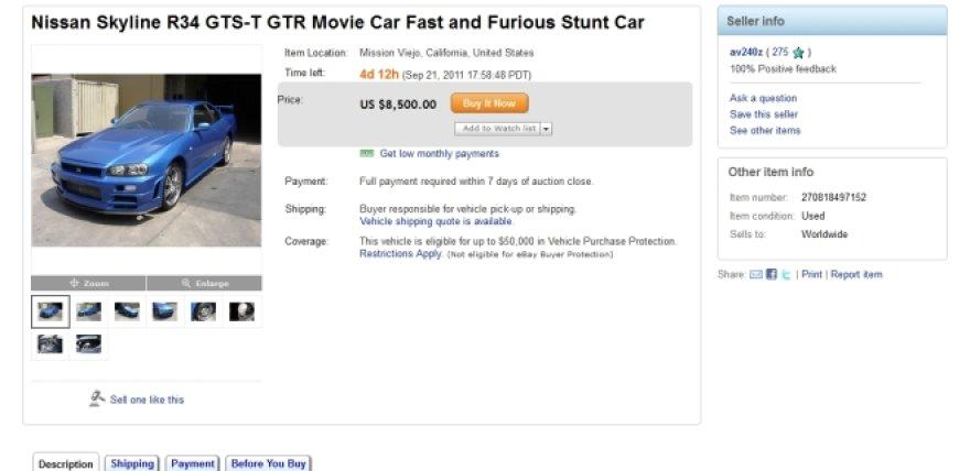 Ebay.com skelbimas