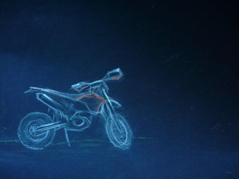 Aldonos Juozaitytės piešinys: KTM motociklas