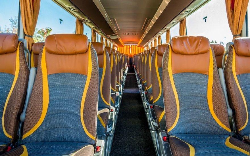 Šiuolaikinio autobuso salonas