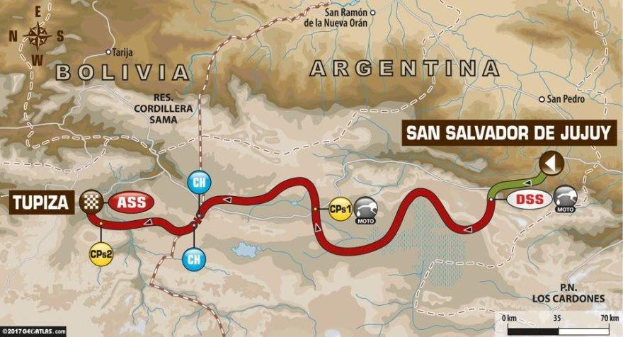 Ketvirtas Dakaro etapas iš Chuhujaus į Tupizą