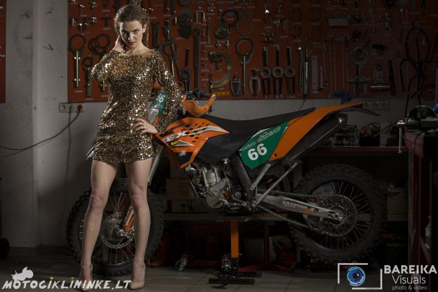 Eduardo Bareikos nuotr./Motociklininke.lt kalendoriaus fotosesijos užkulisiai
