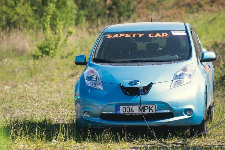 """Autoplius Fast Lap"" nuotr./""Nissan LEAF"""