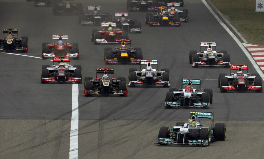 F-1 Kinijos GP startas