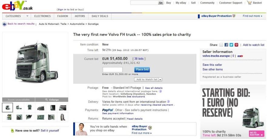 """""""Volvo FH"""" aukcione"""