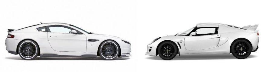 """Aston Martin V8 Vantage"" ir ""Lotus Exige"""