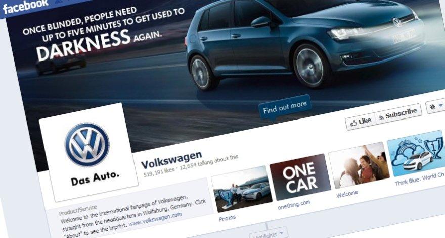 """""""Volkswagen"""" """"Facebook"""" puslapis"""
