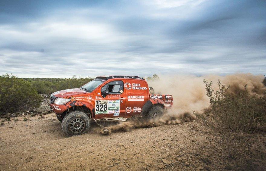 Gedmanto Kropio nuotr./A. Juknevičius ir D. Vaičiulis 11-ame Dakaro etape