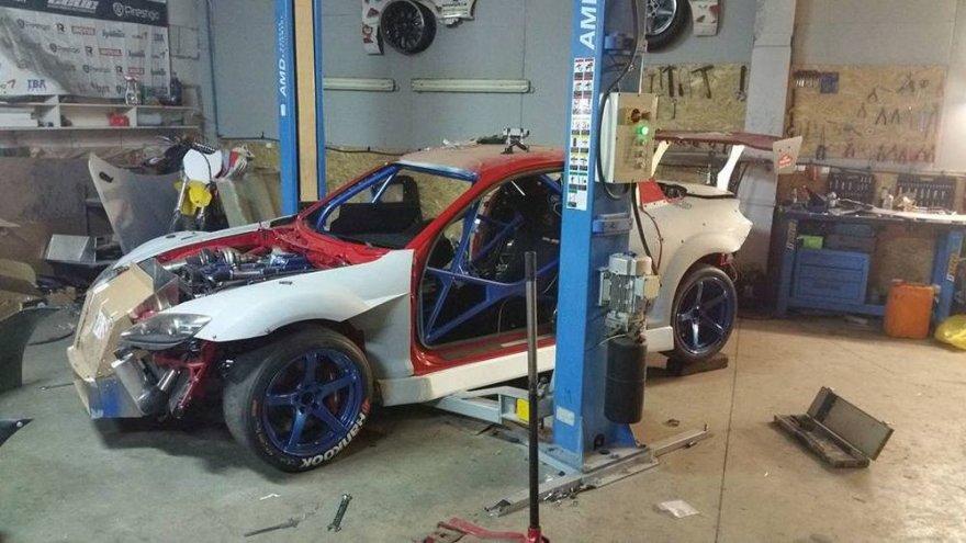 """""""Promaksa by 50 Garage"""" komandos nuotr./""""Mazda RX-8"""" kūrimas"""