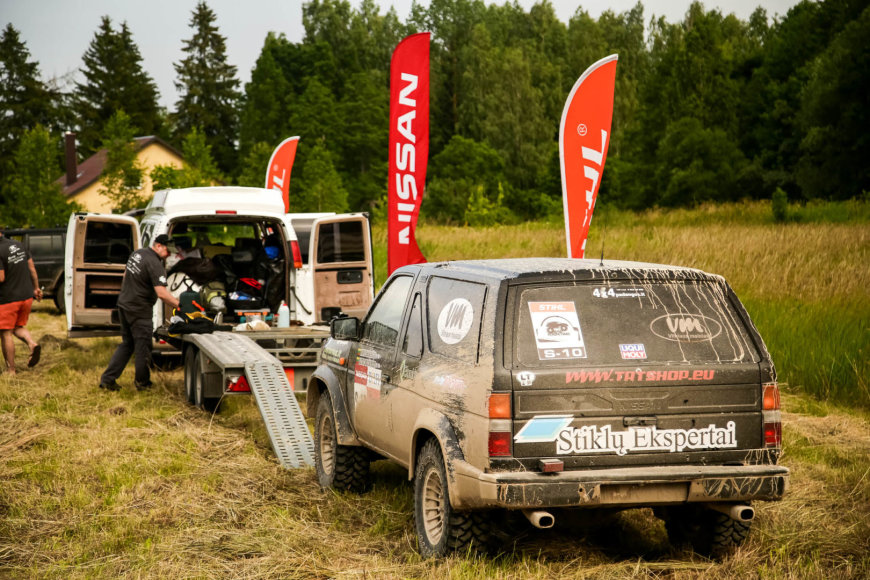 """Lietuvos """"rally raid"""" čempionato varžybų akimirka"""