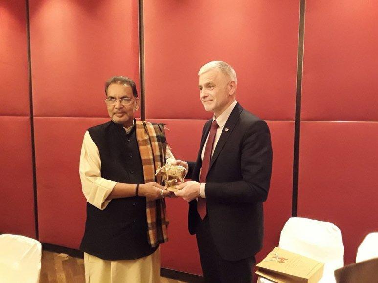 ŽŪM nuotr. /Bronius Markauskas su ministru iš Indijos Shri Radha Mohan Singh