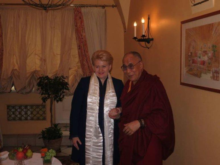 D.Grybauskaitė ir Dalai Lama.