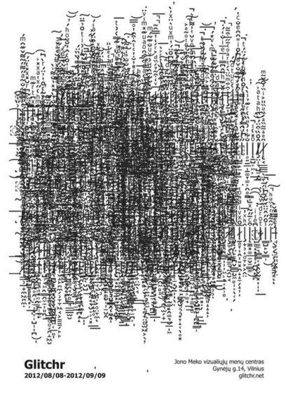 "Jono Meko vizualiųjų menų centras pristato Laimono Zako projektą ""Glitchr"""