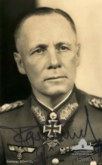 Vienas mėgstamiausių Adolfo Hitlerio generolų Erwinas Rommelis