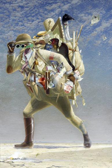 """Timo Storriero paveikslas """"Teatrališkas keliautojas (sekant Boschu)"""""""