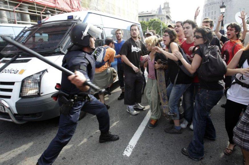 Demonstrantai Barselonoje