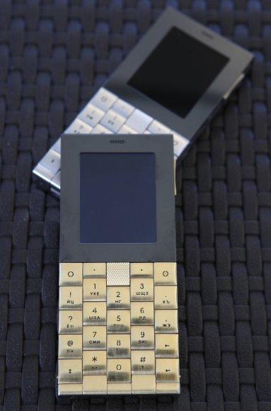 18 karatų aukso telefonas