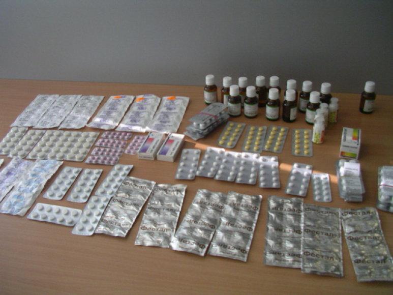 Kalvarijų turgavietėje aptikti nelegalūs vaistai