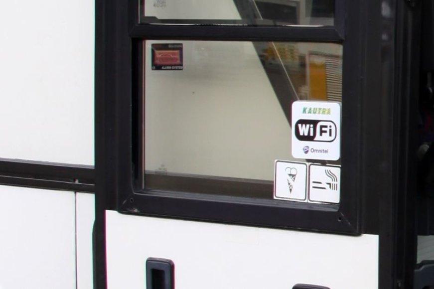 Kautra autobusų keleviai nuo šiol galės nemokamai naudotis bevieliu internetu
