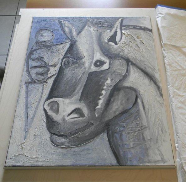"""Pablo Picasso paveikslas """"Head of Horse"""" (liet. """"Žirgo galva"""")"""