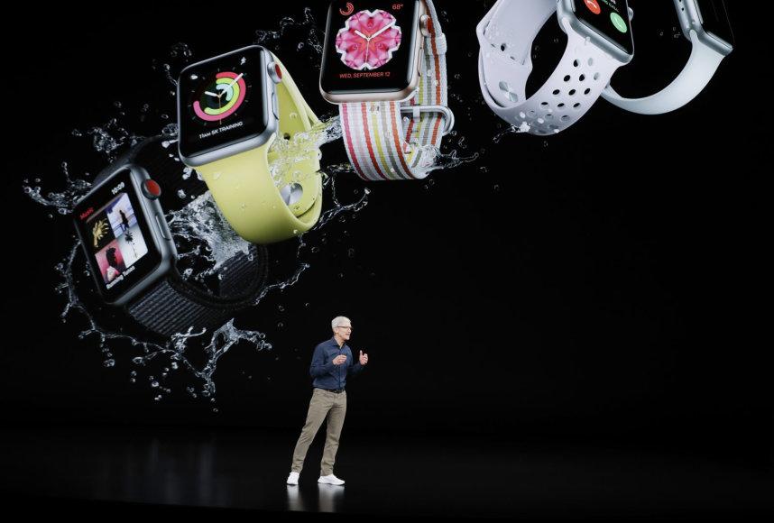 """""""Scanpix""""/AP nuotr./""""Apple"""" produktų pristatymas"""