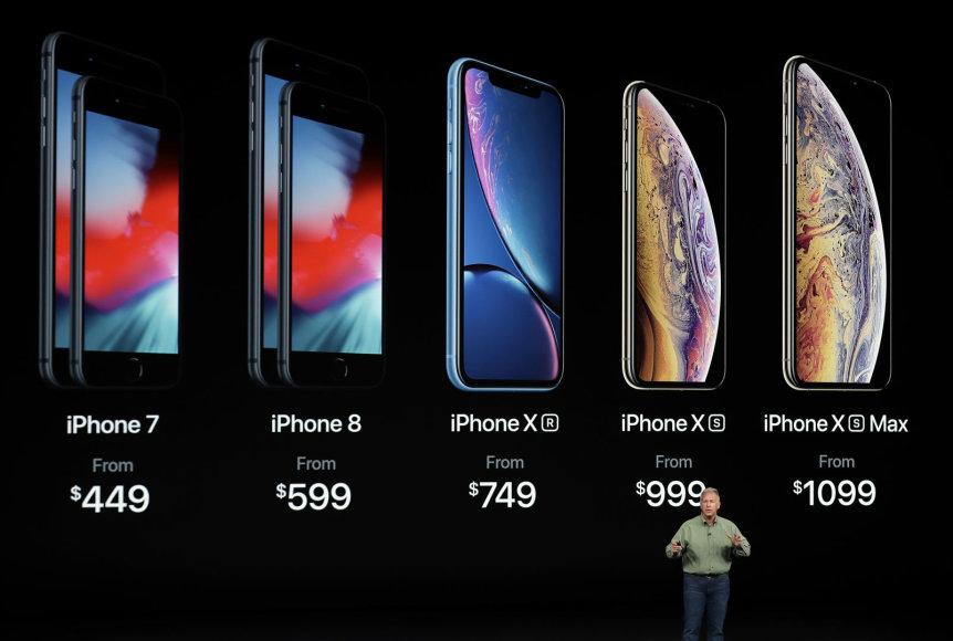 """AFP/""""Scanpix"""" nuotr./Naujų """"Apple"""" produktų pristatymas"""