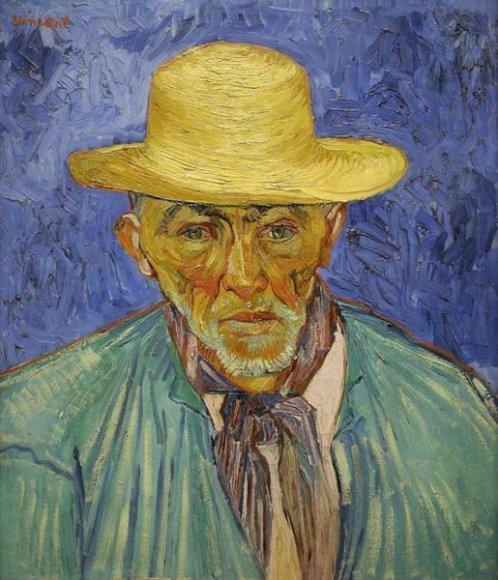 """Van Gogho paveikslas """"Portrait of Peasant"""" (liet. """"Valstiečio portretas"""")"""
