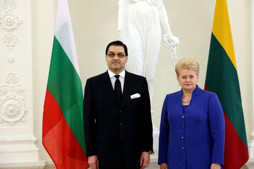 Lietuvos Respublikos Prezidentė Dalia Grybauskaitė priėmė Bulgarijos ambasadoriaus Vasilijaus Takevo skiriamuosius raštus.