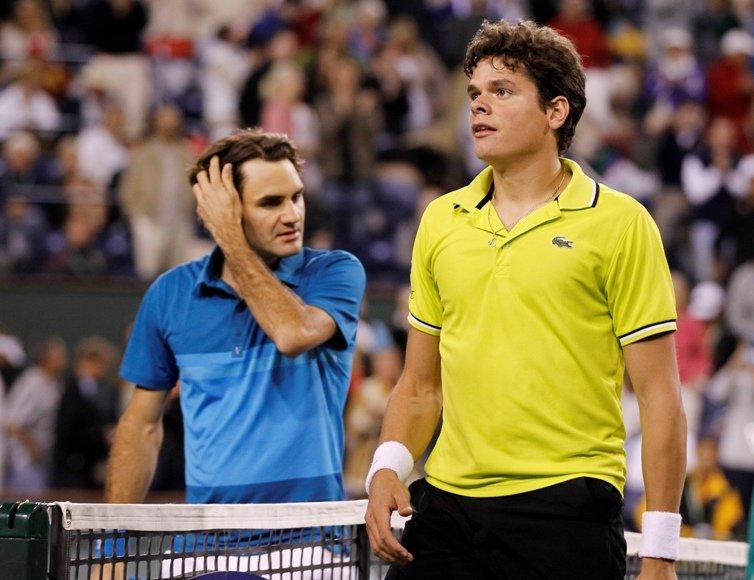 Rogeris Federeris pirmą kartą žaidė prieš Milošą Raoničių