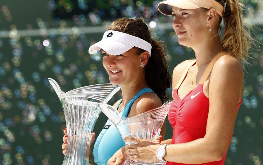 Agnieszka Radwanska ir Marija Šarapova