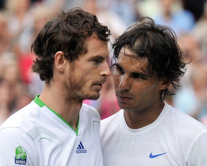 Andy Murray ir Rafaelis Nadalis_