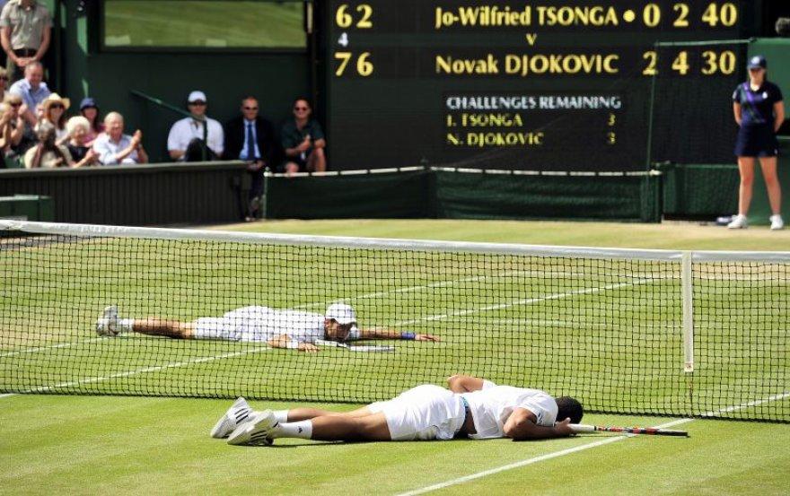 Novakas Džokovičius ir Jo-Wilfriedas Tsonga
