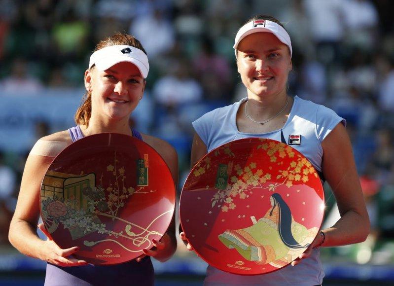 Agnieszka Radwanska ir Nadia Petrova