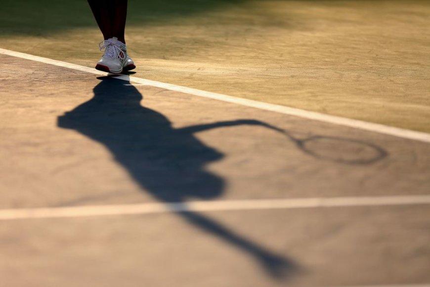 Teniso varžybų akimirka