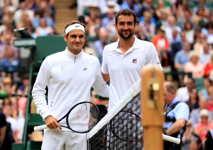 """""""Scanpix"""" nuotr./Rogeris Federeris ir Marinas Čiličius"""