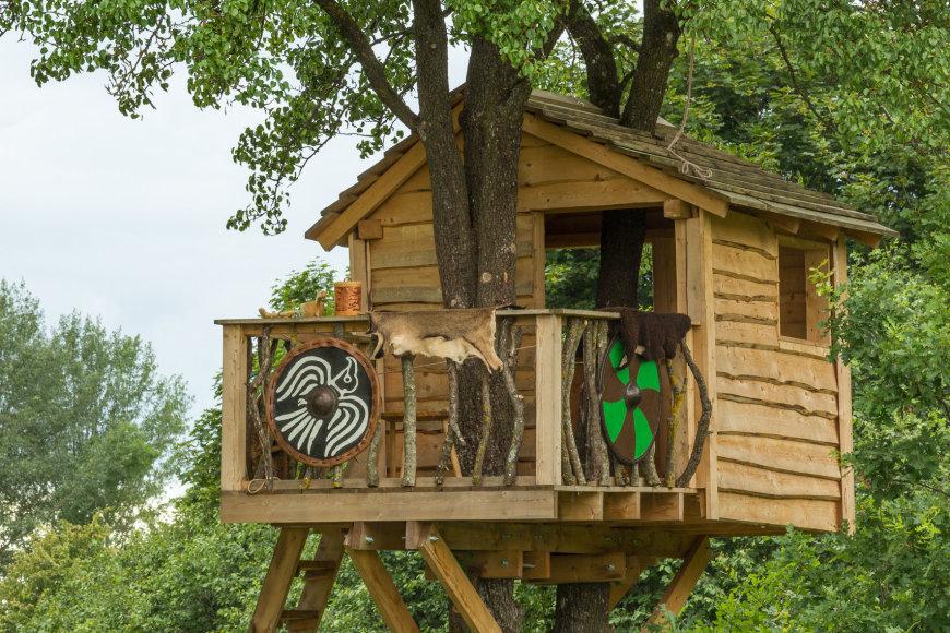 U.Naudžiaus nuotr./Vikingų kaimo namelis