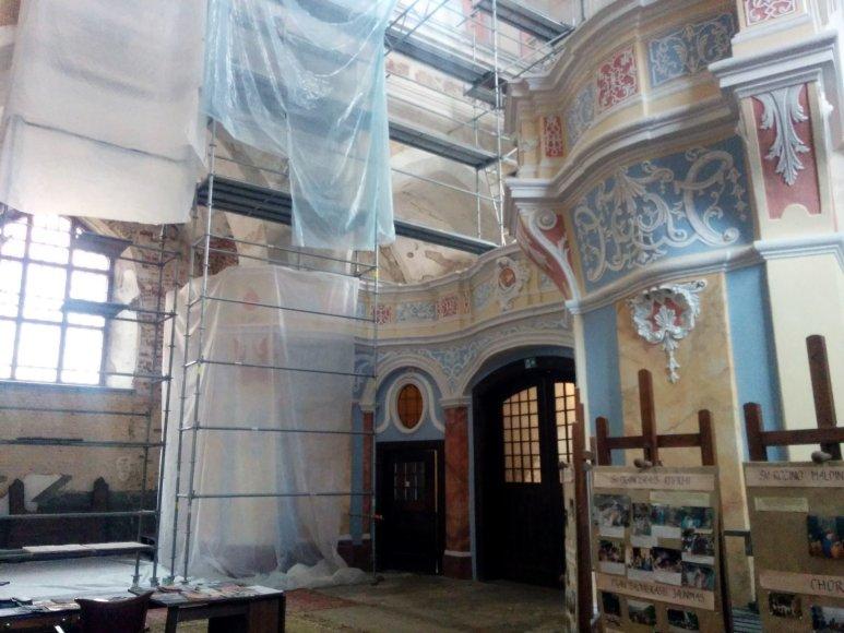 J.Lapienytės nuotr./Lenkijos lėšomis vykdoma bažnyčios restauracija