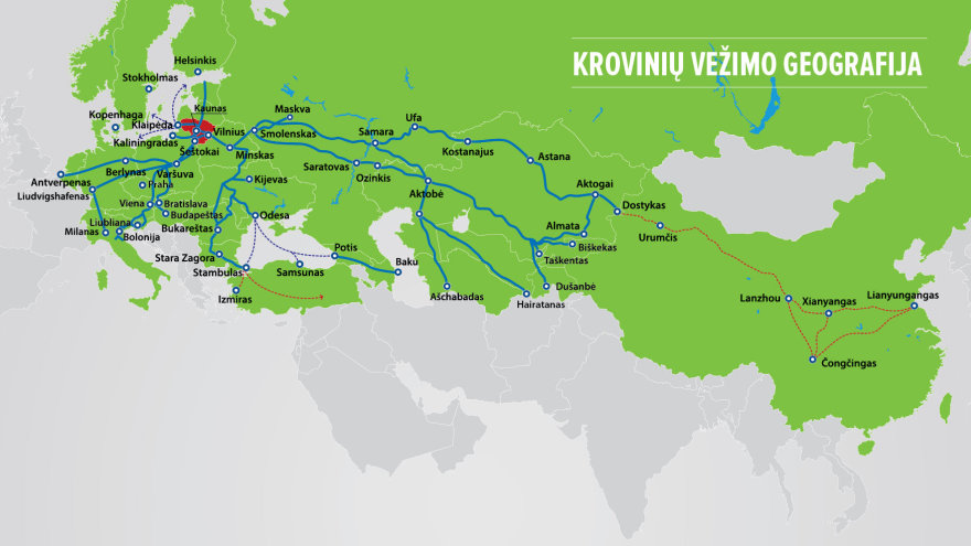 """LG nuotr./""""Lietuvos geležinkelių"""" vežimo geografija"""