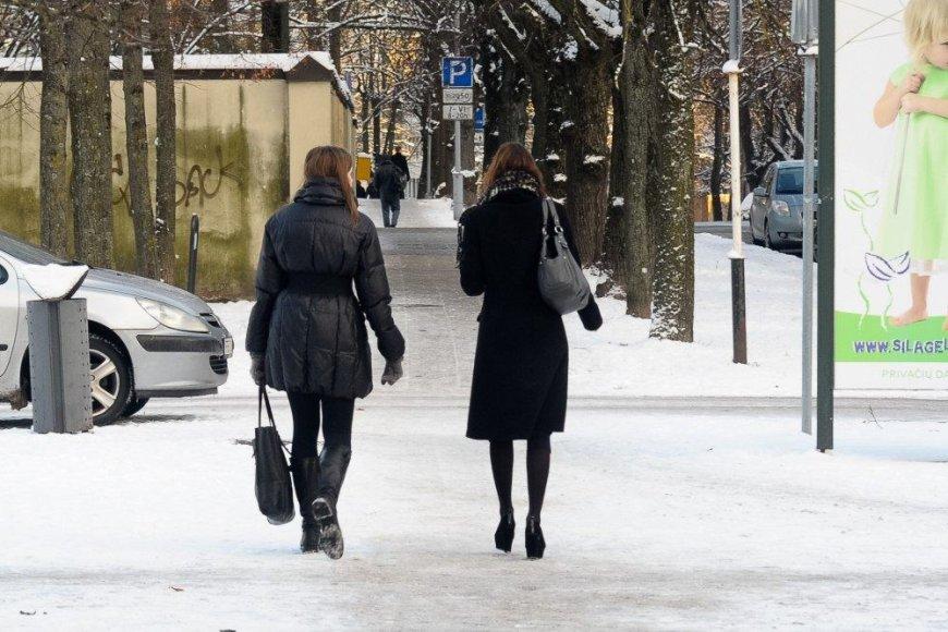 Žiemą itin svaru tinkami drabužiai ir avalynė.